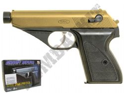 GGH0402B BB Gun Walther PPK Replica Gas Airsoft Pistol 2 Tone Black Gold